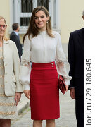 Купить «Queen Letizia of Spain attends the 10th Anniversary of 'Microfinanzas BBVA' at the BBVA Bank Foundation in Madrid, Spain. Featuring: Queen Letizia of Spain...», фото № 29180645, снято 29 мая 2017 г. (c) age Fotostock / Фотобанк Лори