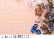 Купить «Christmas and New Year background.», фото № 29182753, снято 10 февраля 2018 г. (c) Мельников Дмитрий / Фотобанк Лори