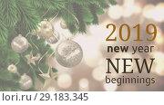 Купить «Chrsitmas tree with decoration on New Year Eve 4k», видеоролик № 29183345, снято 14 ноября 2019 г. (c) Wavebreak Media / Фотобанк Лори
