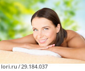 close up of beautiful woman at spa. Стоковое фото, фотограф Syda Productions / Фотобанк Лори