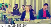 Купить «Students at extension courses», фото № 29185201, снято 8 мая 2018 г. (c) Яков Филимонов / Фотобанк Лори
