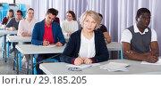 Купить «Adult students on training session», фото № 29185205, снято 8 мая 2018 г. (c) Яков Филимонов / Фотобанк Лори