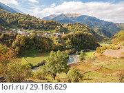 Купить «Autumn Caucasus», фото № 29186629, снято 28 сентября 2018 г. (c) Юлия Бабкина / Фотобанк Лори