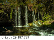 Upper Duden waterfalls, beautiful evergreen paradise. Ideal for relaxing National Park (2018 год). Редакционное фото, фотограф Максим Бейков / Фотобанк Лори