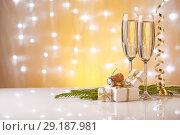 Купить «Champagne. New year and Christmas.», фото № 29187981, снято 25 июля 2016 г. (c) Мельников Дмитрий / Фотобанк Лори