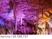 Купить «Stalactite cave Sorek in Israel, Beit Shemesh district, Judean mountains», фото № 29188737, снято 9 июня 2018 г. (c) Наталья Волкова / Фотобанк Лори