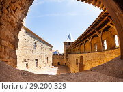 Купить «Inner courtyard of Chateau Comtal at Carcassonne», фото № 29200329, снято 27 июля 2017 г. (c) Сергей Новиков / Фотобанк Лори