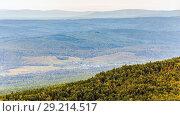 Купить «Valley of the Ural Mountains.», фото № 29214517, снято 6 сентября 2017 г. (c) Акиньшин Владимир / Фотобанк Лори