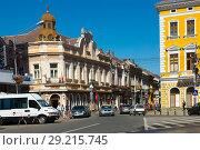 Купить «Streets of Satu Mare in Romania», фото № 29215745, снято 14 сентября 2017 г. (c) Яков Филимонов / Фотобанк Лори