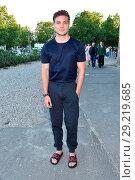 Jannik Schuemann at Hugo by Hugo Boss fashion show at Motorwerk Weissensee... (2018 год). Редакционное фото, фотограф AEDT / WENN.com / age Fotostock / Фотобанк Лори
