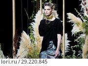 Купить «Mercedes-Benz Madrid Fashion Week S/S19 – Inunez - Catwalk Featuring: Model Where: Madrid, Spain When: 10 Jul 2018 Credit: Oscar Gonzalez/WENN.com», фото № 29220845, снято 10 июля 2018 г. (c) age Fotostock / Фотобанк Лори