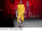 Купить «Mercedes-Benz Madrid Fashion Week Spring/Summer 2019 - García Madrid - Catwalk Featuring: Model Where: Madrid, Spain When: 10 Jul 2018 Credit: Oscar Gonzalez/WENN.com», фото № 29222245, снято 10 июля 2018 г. (c) age Fotostock / Фотобанк Лори