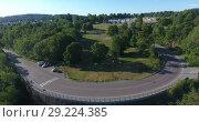 Купить «Дорога Valhallveien из города Осло в кемпинг Ekeberg. Норвегия», видеоролик № 29224385, снято 12 июля 2018 г. (c) Кекяляйнен Андрей / Фотобанк Лори