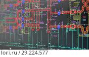 Купить «Проектирование в Автокаде», видеоролик № 29224577, снято 9 марта 2018 г. (c) Кекяляйнен Андрей / Фотобанк Лори