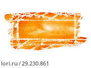 Купить «Orange hand drawn rectangle», иллюстрация № 29230861 (c) Роман Сигаев / Фотобанк Лори