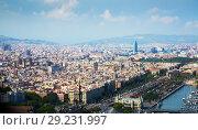Historical neighbourhoods of Barcelona, view above (2016 год). Стоковое фото, фотограф Яков Филимонов / Фотобанк Лори