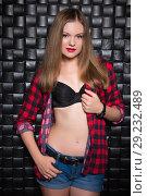 Купить «Pretty slim woman», фото № 29232489, снято 5 сентября 2015 г. (c) Сергей Сухоруков / Фотобанк Лори