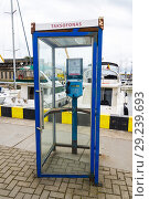 Купить «Klaipeda Lithuania a popular cruise ship destination on the Baltic Sea telephone booth.», фото № 29239693, снято 26 августа 2018 г. (c) age Fotostock / Фотобанк Лори