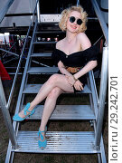 Купить «Radio B2 SchlagerHammer Open Air Festival at Racecourse Hoppegarten (Galopprennbahn). Featuring: Sarah Jane Scott Where: Berlin, Germany When: 14 Jul 2018 Credit: WENN.com», фото № 29242701, снято 14 июля 2018 г. (c) age Fotostock / Фотобанк Лори