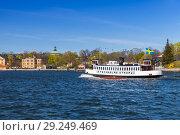 Vintage tourist boat Stockholms Strom 2 (2016 год). Редакционное фото, фотограф EugeneSergeev / Фотобанк Лори