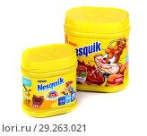 Nestle Nesquik cocoa (2018 год). Редакционное фото, фотограф Art Konovalov / Фотобанк Лори