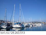Купить «Sailing yachts and motor boats, Corsica», фото № 29263513, снято 29 июня 2015 г. (c) EugeneSergeev / Фотобанк Лори