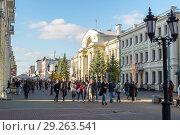 Купить «Пешеходная улица Баумана. Казань», фото № 29263541, снято 9 октября 2018 г. (c) Владимир Макеев / Фотобанк Лори