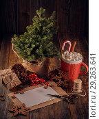 Купить «Christmas and New Year composition.», фото № 29263641, снято 12 октября 2018 г. (c) Мельников Дмитрий / Фотобанк Лори