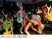 Купить «South African bikini clad duo The Soap Girls suffer wardrobe malfunctions as they perform their punk laden set. Featuring: The Soap Girls, Mie Debray,...», фото № 29268881, снято 22 июня 2018 г. (c) age Fotostock / Фотобанк Лори