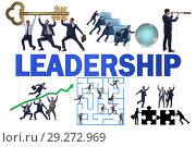 Купить «Concept of leadership with many business situations», фото № 29272969, снято 21 сентября 2019 г. (c) Elnur / Фотобанк Лори