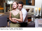 Купить «Romantic couple at home», фото № 29274065, снято 24 сентября 2018 г. (c) Яков Филимонов / Фотобанк Лори