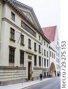 Купить «Moneta Regia Portal in Munich. Bavaria. Germany», фото № 29275153, снято 27 января 2018 г. (c) Николай Коржов / Фотобанк Лори
