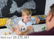 Купить «Cute little toddler boy at child therapy session.», фото № 29275361, снято 5 сентября 2017 г. (c) Matej Kastelic / Фотобанк Лори