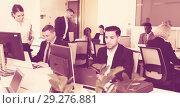 Купить «Business people working in coworking space», фото № 29276881, снято 10 марта 2018 г. (c) Яков Филимонов / Фотобанк Лори