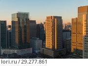 Купить «skyscrapers or office buildings in tokyo city», фото № 29277861, снято 7 февраля 2018 г. (c) Syda Productions / Фотобанк Лори