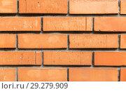 Купить «close up of brick wall texture», фото № 29279909, снято 10 февраля 2018 г. (c) Syda Productions / Фотобанк Лори