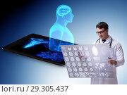 Купить «Telehealth concept with doctor doing remote check-up», фото № 29305437, снято 26 марта 2019 г. (c) Elnur / Фотобанк Лори