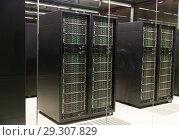 Купить «Server room in Supercomputing Center of Barcelona», фото № 29307829, снято 16 января 2018 г. (c) Яков Филимонов / Фотобанк Лори