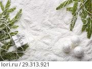 Купить «Christmas and New Year background», фото № 29313921, снято 25 октября 2018 г. (c) Мельников Дмитрий / Фотобанк Лори