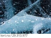 Купить «Ice of Lake Baikal», фото № 29313977, снято 4 марта 2017 г. (c) Юлия Белоусова / Фотобанк Лори