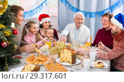 Купить «Family members are engaging in dialog», фото № 29317601, снято 23 января 2019 г. (c) Яков Филимонов / Фотобанк Лори