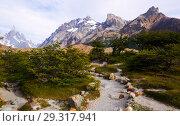 Купить «Glaciers and mountains Fitz Roy, Cerro Torre», фото № 29317941, снято 1 февраля 2017 г. (c) Яков Филимонов / Фотобанк Лори