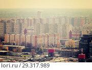 Купить «Panoramic view of Bratislava with modern apartment buildings», фото № 29317989, снято 3 ноября 2017 г. (c) Яков Филимонов / Фотобанк Лори