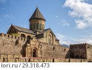 Купить «View of Svetitskhoveli Cathedral in Mtskheta, Georgia», фото № 29318473, снято 23 сентября 2018 г. (c) Юлия Бабкина / Фотобанк Лори