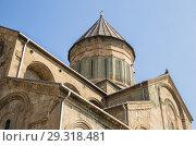 Купить «Fragment of ancient Svetitskhoveli Orthodox Cathedral, Mtskheta, Georgia», фото № 29318481, снято 23 сентября 2018 г. (c) Юлия Бабкина / Фотобанк Лори
