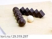Купить «Шоколад.Кубики и шарики.», фото № 29319297, снято 1 ноября 2018 г. (c) Инга Прасолова / Фотобанк Лори