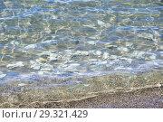 Великие озера Тибета. Прозрачная вода озера Тери Таши Намтсо, фон (2018 год). Стоковое фото, фотограф Овчинникова Ирина / Фотобанк Лори