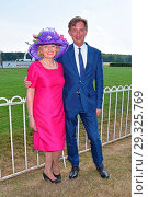 Tini Graefin Rothkirch, Gerhard Schoenigh at Ladies Day at race track... (2018 год). Редакционное фото, фотограф AEDT / WENN.com / age Fotostock / Фотобанк Лори