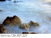 Adriatic sea coast at sunset, near Dubrovnik, Dalmatia, Croatia. Стоковое фото, фотограф Ivan Vdovin / age Fotostock / Фотобанк Лори