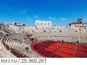 Купить «Arena di Verona - ancient Roman amphitheatre in Verona, Italy», фото № 29360261, снято 21 апреля 2017 г. (c) Наталья Волкова / Фотобанк Лори